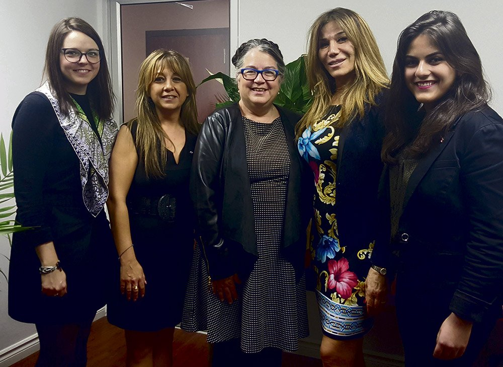 Pictured above Karine Sahakian, Brinda Nehme, Arevig Afarian and the National Revenue Minister Dianne Lebouthillier