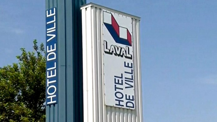 Laval City Hall sign.