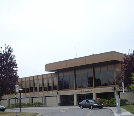 Frontage of Laval City Hall