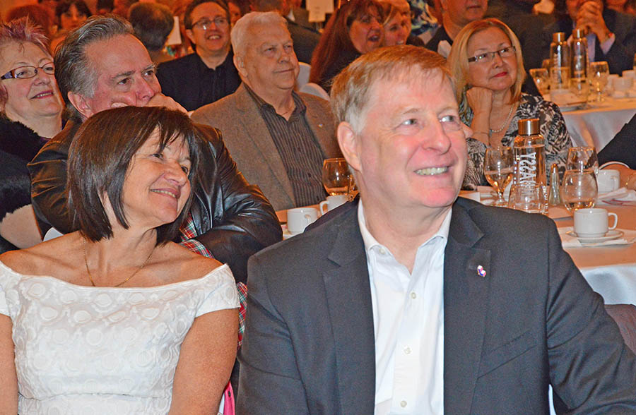 Mayor Marc Demers and his wife.