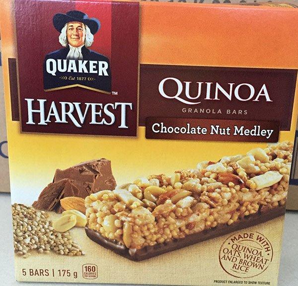 RECALL: Quaker Harvest brand Quinoa Granola Bars and Spitz brand Sunflower Kernels recalled due to Listeria monocytogenes