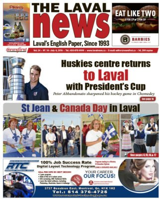 Laval News front page