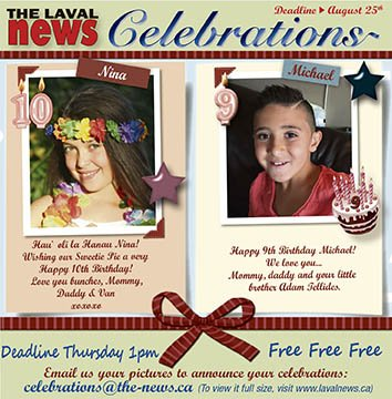 Celebrations August 17 2016