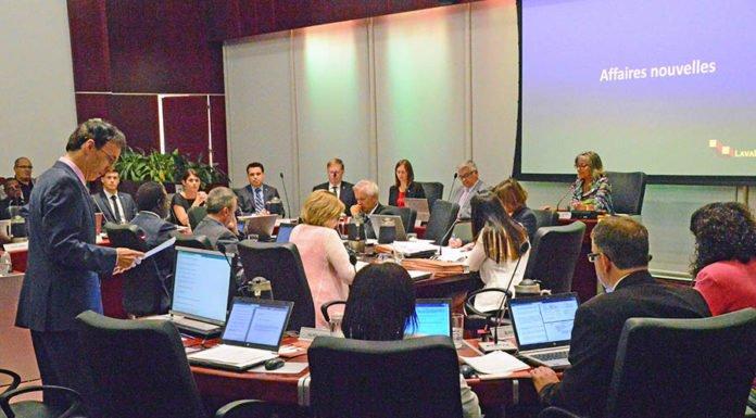 Laval city council meeting