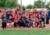 Commission scolaire Sir-Wilfrid-Laurier in a benefit softball matches