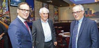Leo Housakos, Nick Tsatas and Tony Clement.
