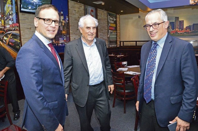 Leo Housakos, Nick Tsatas and Tony Clement.
