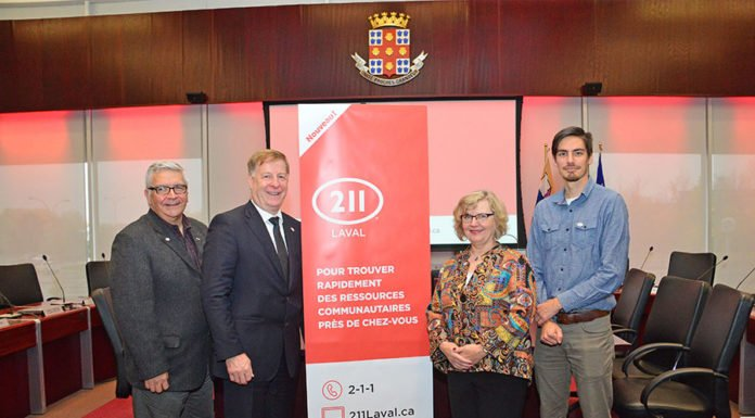 Laval has become the first city in the metropolitan Montreal region to offer live 2-1-1 telephone service, allowing callers to gain immediate access to a wide range of social and community organizations