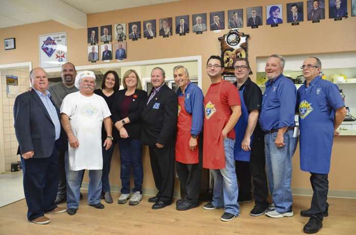 team of volunteers who helped out at the Knights of Columbus breakfast.