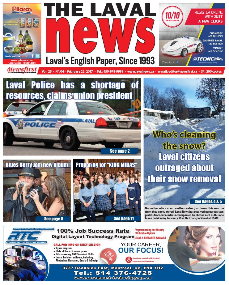 Front page image of The Laval News Volume 25 Number 04