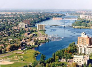 Arial view of Laval