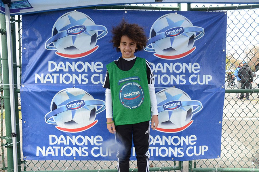 Adam Aouissi, a local contender for the Canadian national team of the Danone Nations Cup.