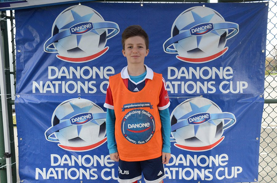 Emilian Blaga, a local contender for the Canadian national team of the Danone Nations Cup.
