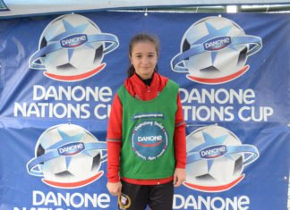 Eva Liakakos, a local contender for the first-ever Canadian girls' team of the Danone Nations Cup.