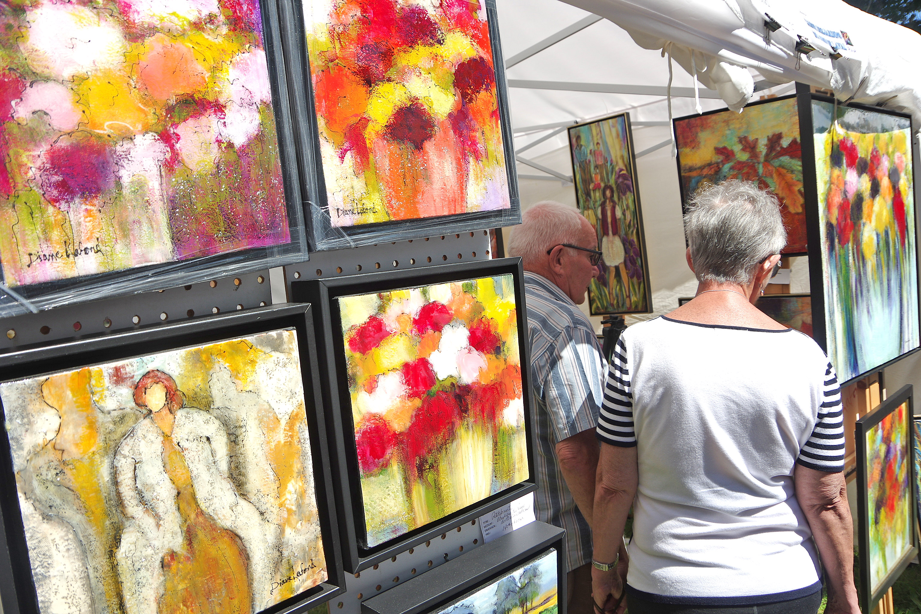 Hundreds of artworks were on display during the three days of the event.