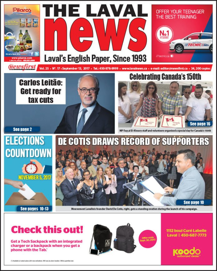 Front page image of The Laval News Volume 25 Number 17