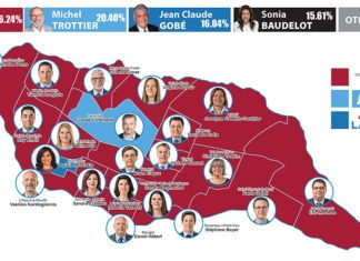 Map of winners 2017 Laval Elections