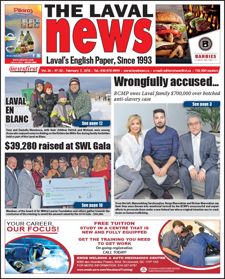 Front page image of The Laval News Volume 03