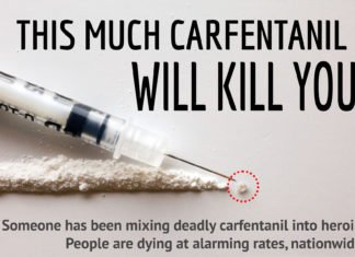 This much Carfentanil will kill you.