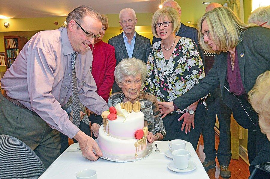 Rita Murray celebrates her 100th birthday.