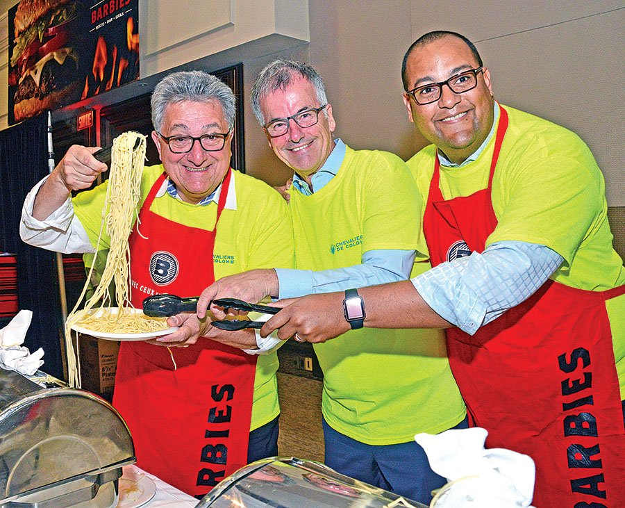 Chevaliers de Colomb 'Spaghetti Day' was an overwhelming success