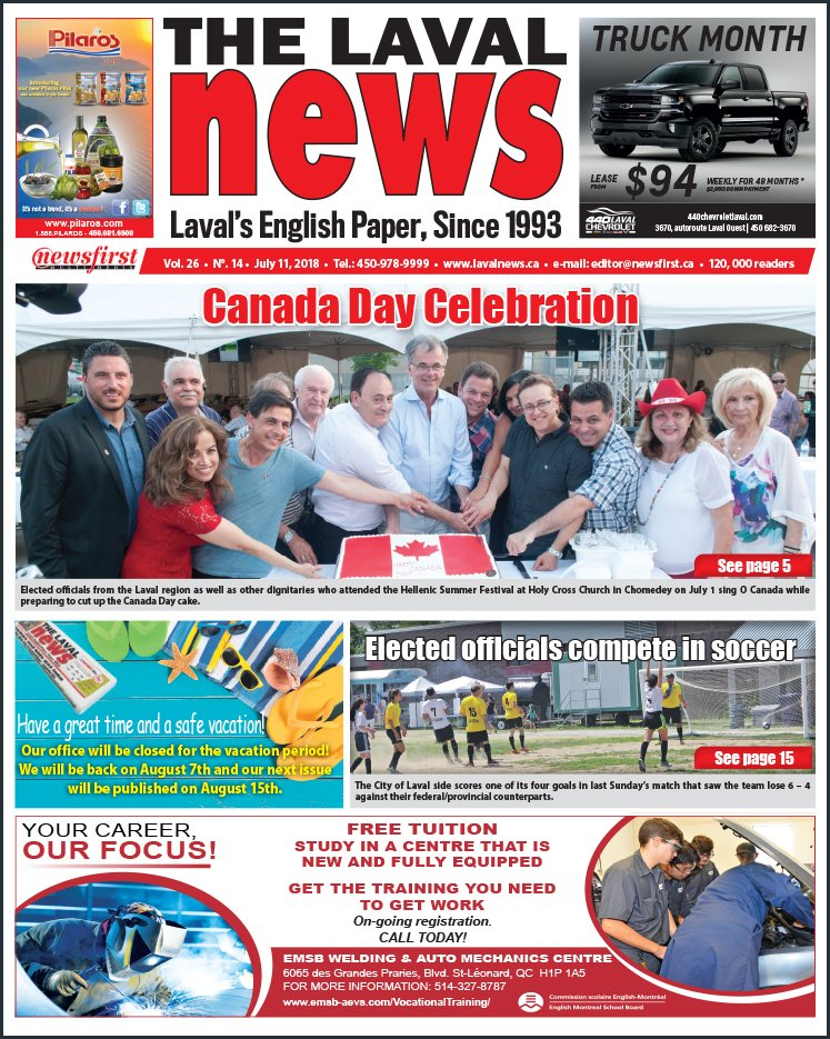 Front page image of The Laval News Volume 26 Number 14
