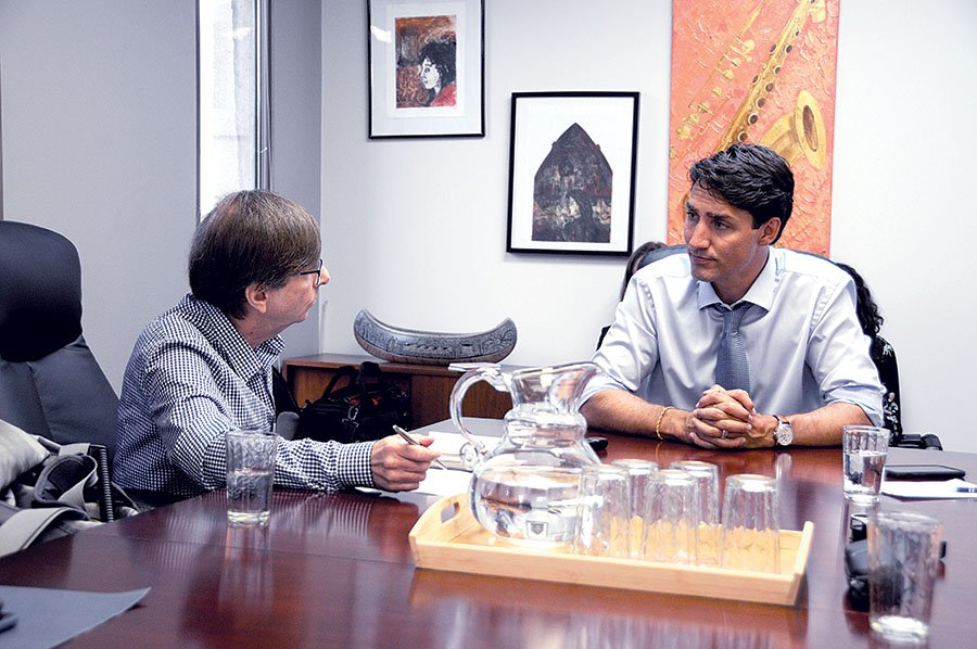 Justin Trudeau with Martin Barry