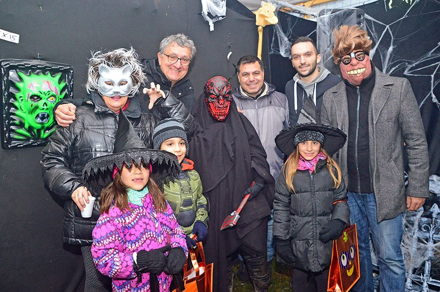 Ghosts and Zombies gathered at Lausanne Park 'Haunted House'