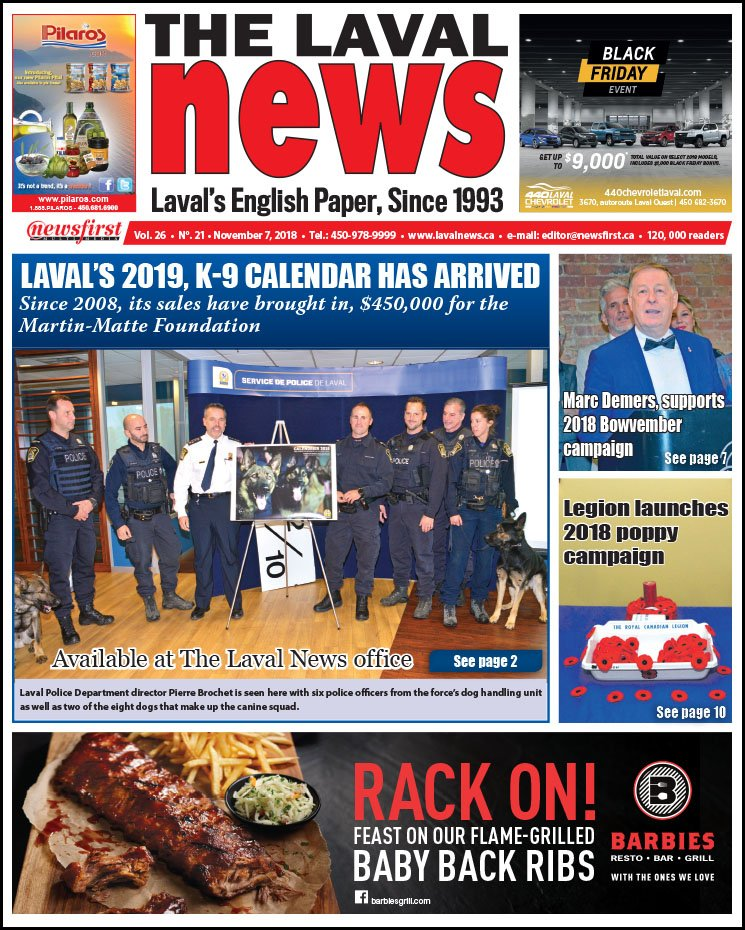 Front page image of The Laval News Volume 26 Number 21.