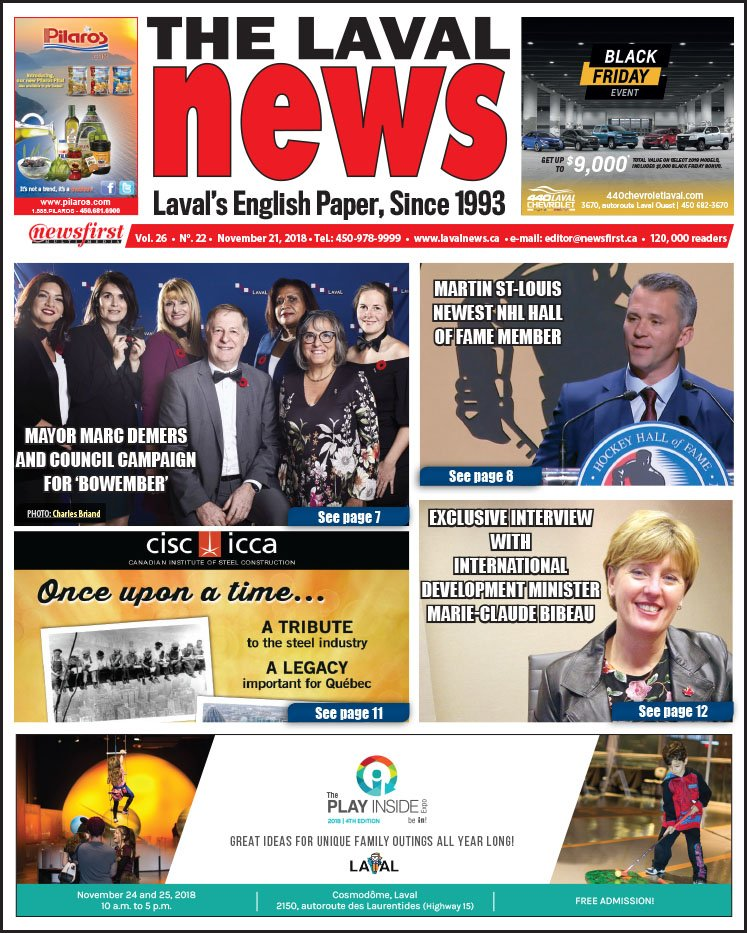 Front page image of The Laval News Volume 26 Number 22.