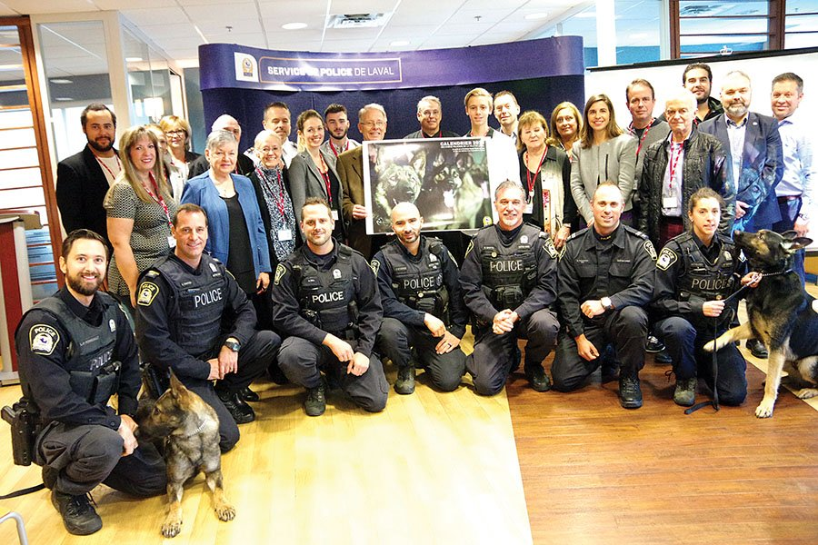 The Laval Police's 2019 dog calendar is now on sale