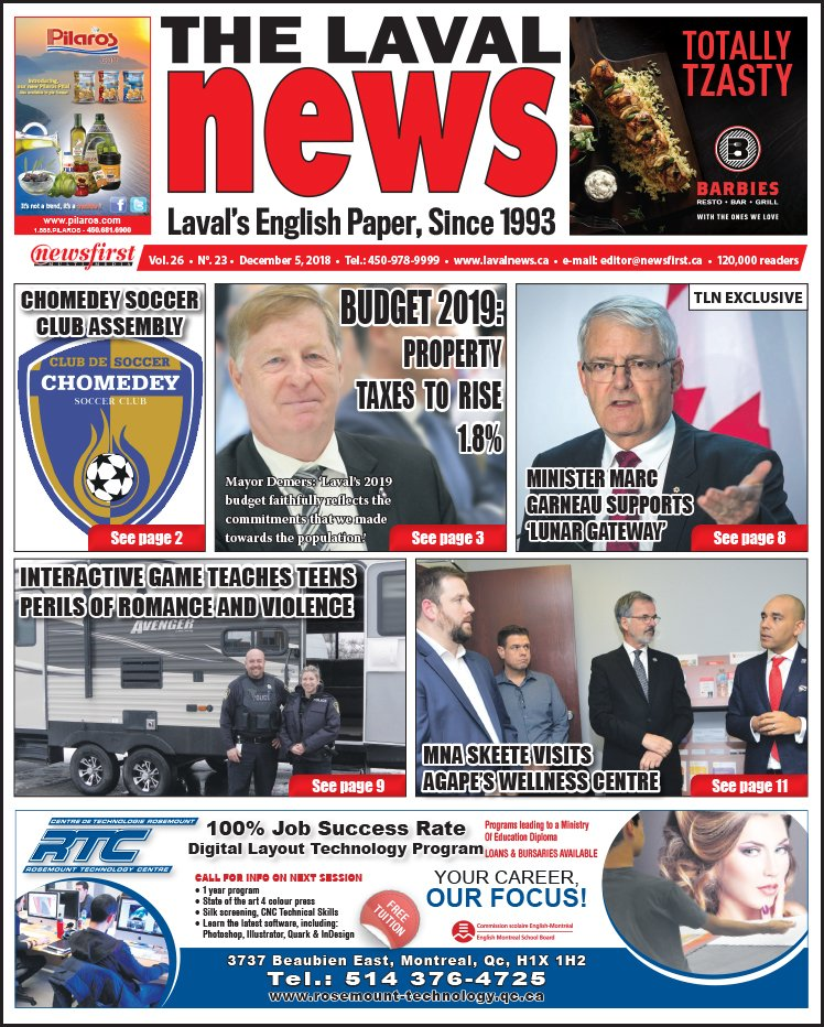 Front page image of The Laval News Volume 26 Number 23.