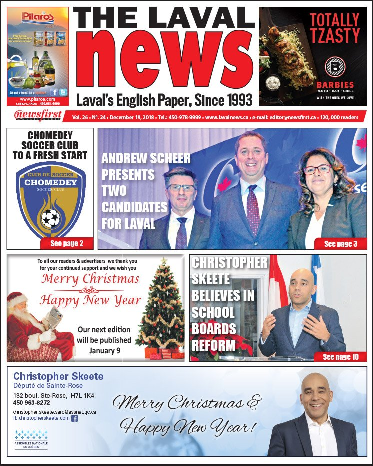 Front page image of The Laval News Volume 26 Number 24