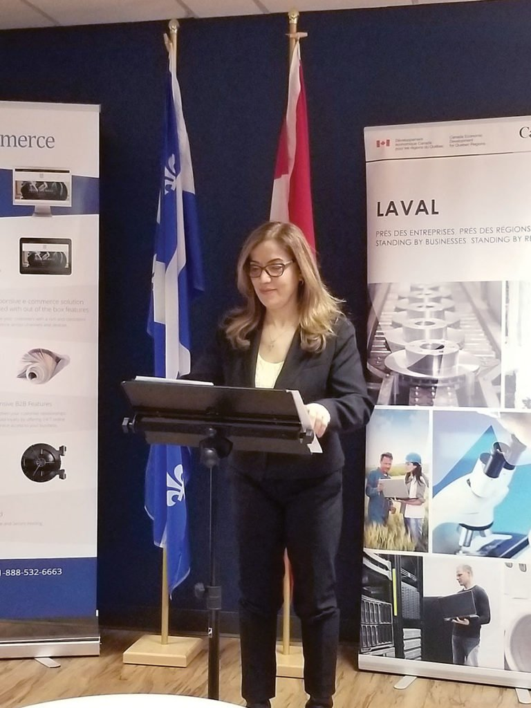 Subsidy to K-eCommerce announced by Vimy MP Eva Nassif