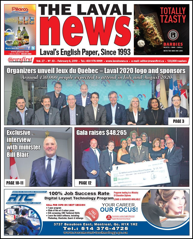 Front page image of The Laval News Volume 27, Number 03