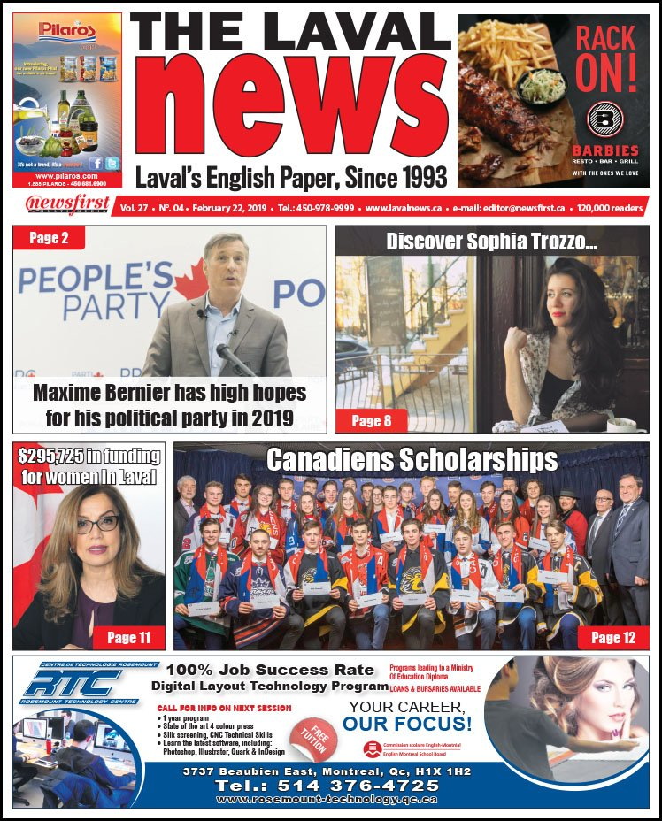 Front page image of The Laval News Volume 27, Number 04