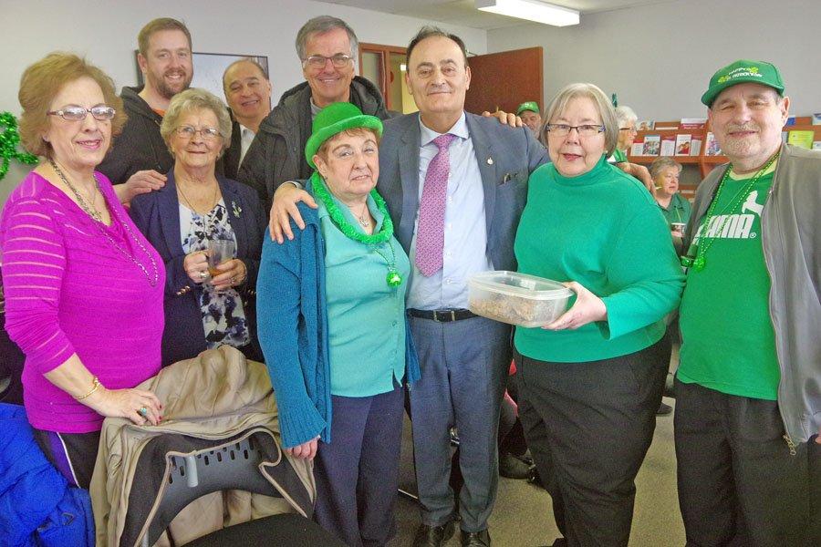 Seniors celebrate St. Patrick's Day at Wellness Center
