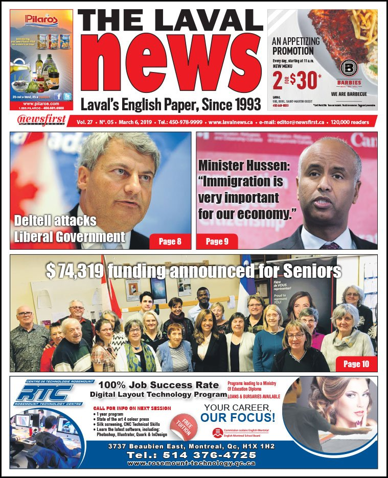 Front page of The Laval News Volume 27, Number 05