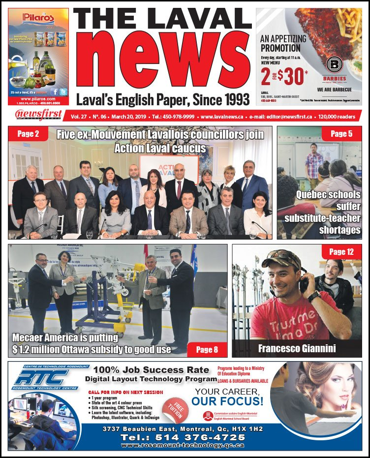 Front page of The Laval News Volume 27, Number 06