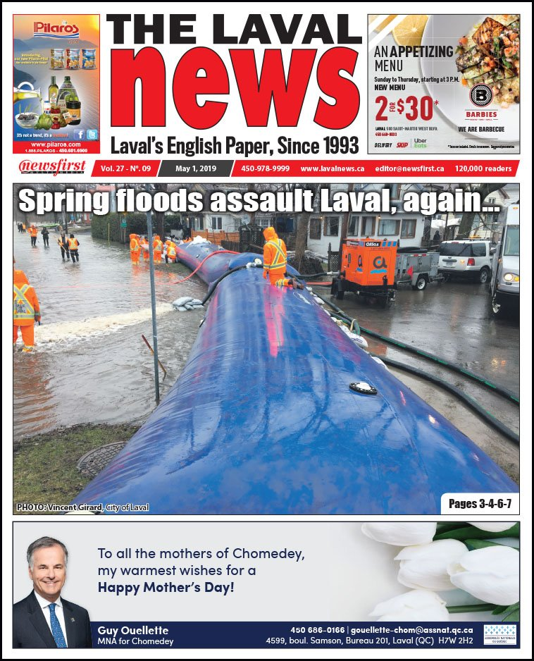 Front page of The Laval News Volume 27, Number 09