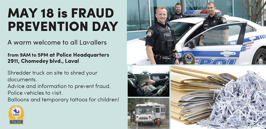 Laval Police hold first Fraud Prevention Day May 18