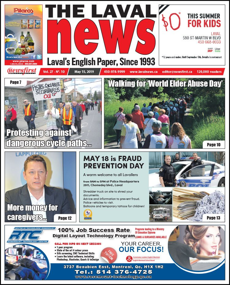 Front page of The Laval News Volume 27, Number 10