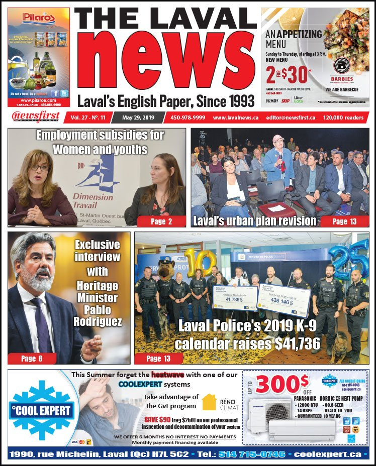 Front page of The Laval News Volume 27, Number 11