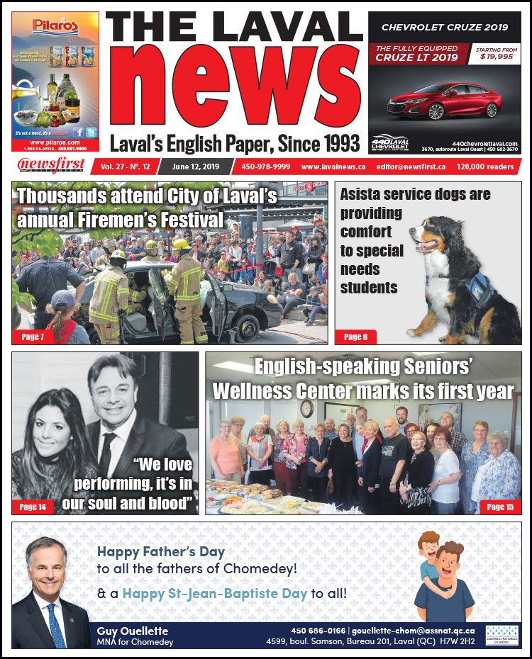 Front page of The Laval News Volume 27, Number 12