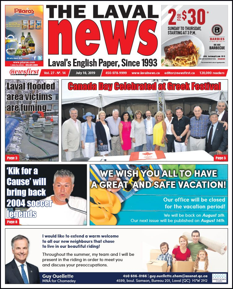 Front page of The Laval News Volume 27, Number 14