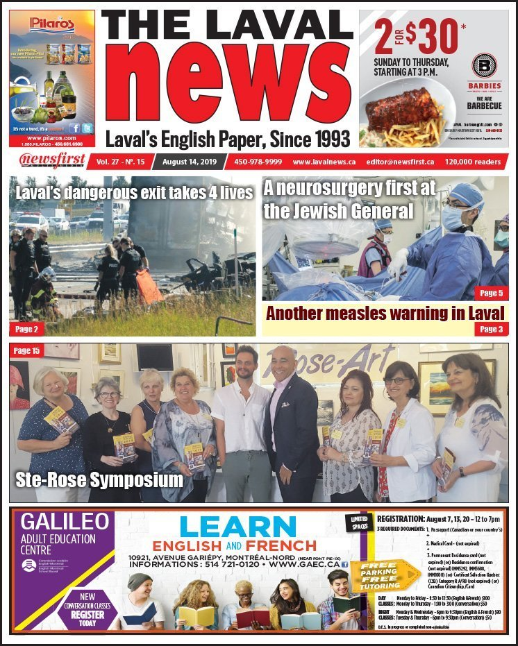 Front page of The Laval News Volume 27, Number 15