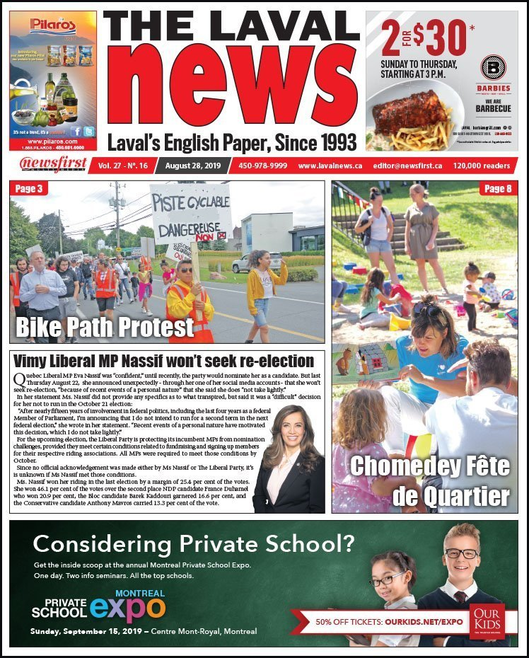 Front page of The Laval News Volume 27, Number 16