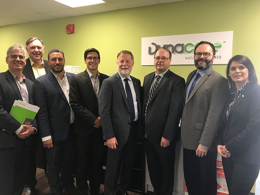 Laval mayor Marc Demers visits Dynacare