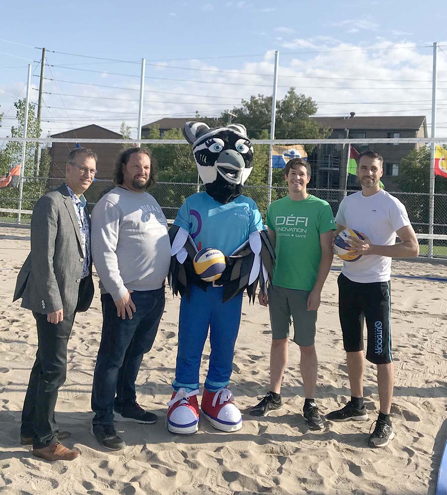 New beach volleyball courts at Centre sportif Bois-de-Boulogne
