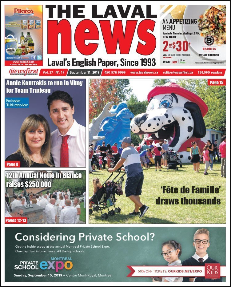 Front page of The Laval News Volume 27, Number 17